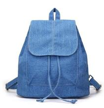 2018 New Denim Canvas Women Backpack Drawstring School Bags For Teenagers Girls Small Backpack Female Rucksack Mochilas Feminina все цены