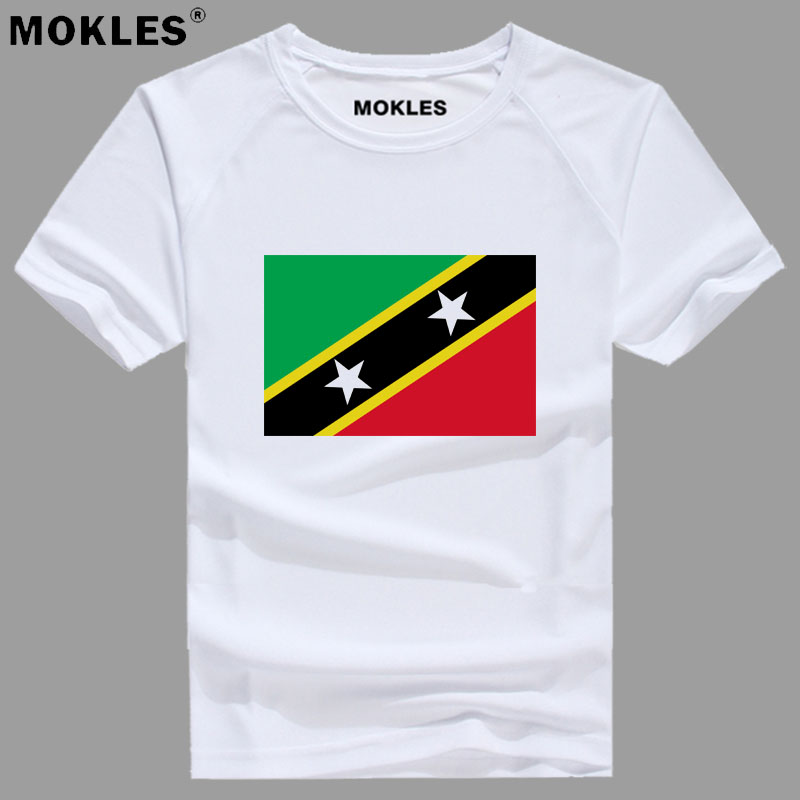 SAINT KITTS AND NEVIS t shirt diy free custom made name number kna T-Shirt nation flag kn country college print photo 0 clothing