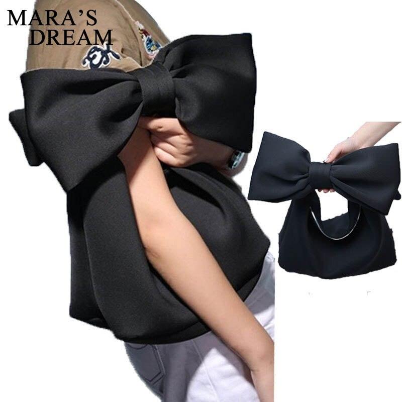 Winter Ladies Bucket Bag Quality Canvas Women's Handbag Big Bow Chain Shoulder Messenger Crossbody Bags