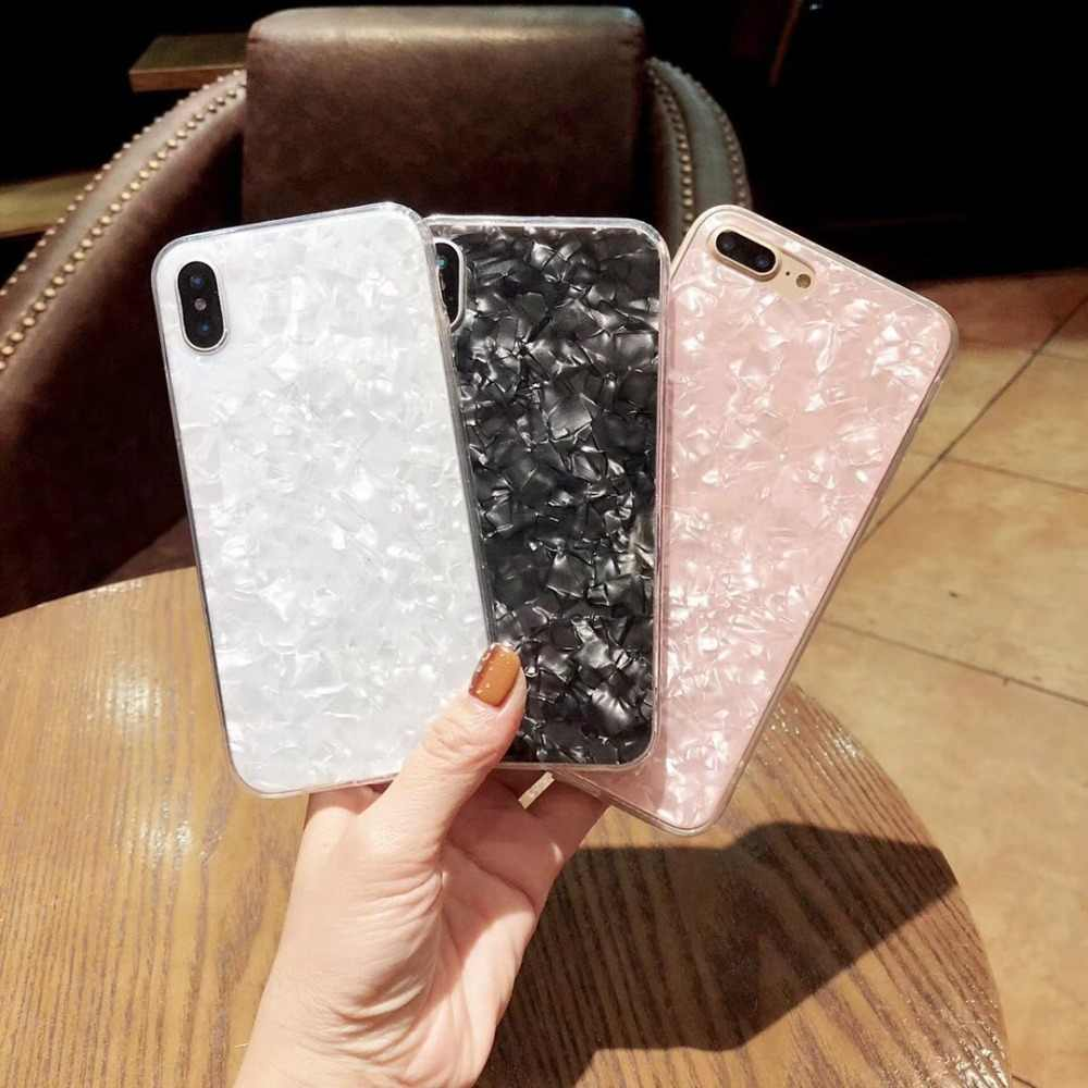 Glitter Phone Cases For iPhone 6 S Case Dream Shell Pattern Soft TPU Silicone Back Cover For iPhone X 7 8 6 6S Plus Case Capa