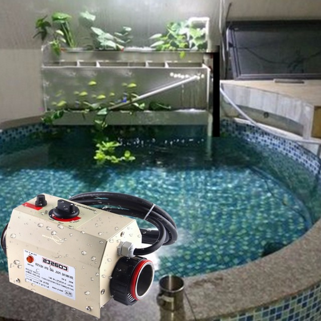 3kw 220v 50hz Swimming Pool Heater Spa Bathe Bath Hot Tub Thermostat Electric Water