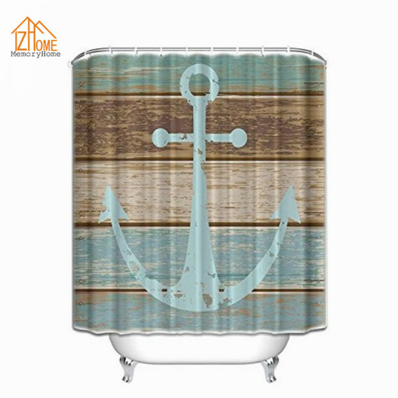 Memory Home Waterproof Decorative Rustic Old Barn Wood Art Shower Curtain  Polyester Fabric Eco Friendly Bathroom Shower Curtains