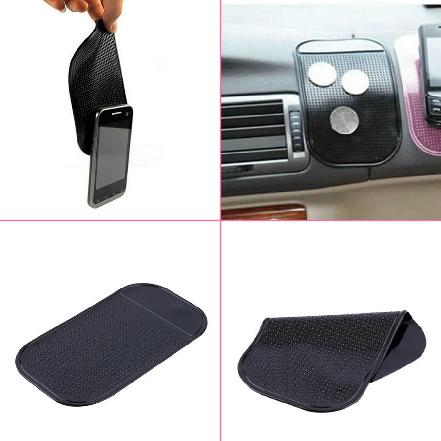 New 1/2/4pcs cute and easy to use 100% Anti Slip Super sticky suction Car Dashboard magic Sticky Pad Mat for Phone PDA mp3 mp4