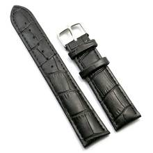 Durable Men Women Genuine Leather Watch Strap Male Female 18mm/20mm/22mm/24mm/26mm Watch Band Black/Brown Pin Buckle
