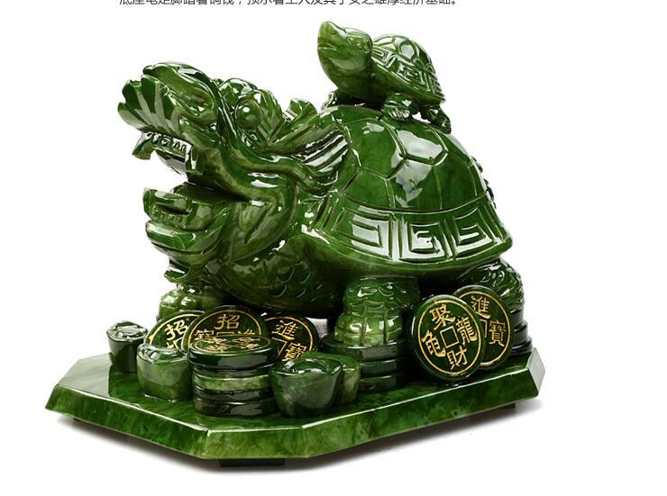Настоящего натурального нефрита Дракон Черепаха wenchang башня является естественным Южной jade мать-сын статуи голова животного скульптура укр...