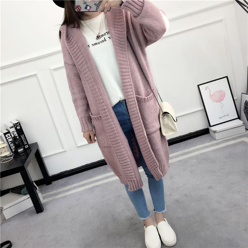 HTB1Br4uSVXXXXa8aXXXq6xXFXXXT - Women Long Knitted Sweater Coat Hooded Sweater Cardigans JKP039