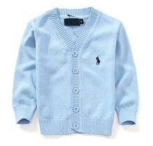 Boys child stripe sweater child 100% cotton knitting sweaters autumn children's clothing baby cardigan