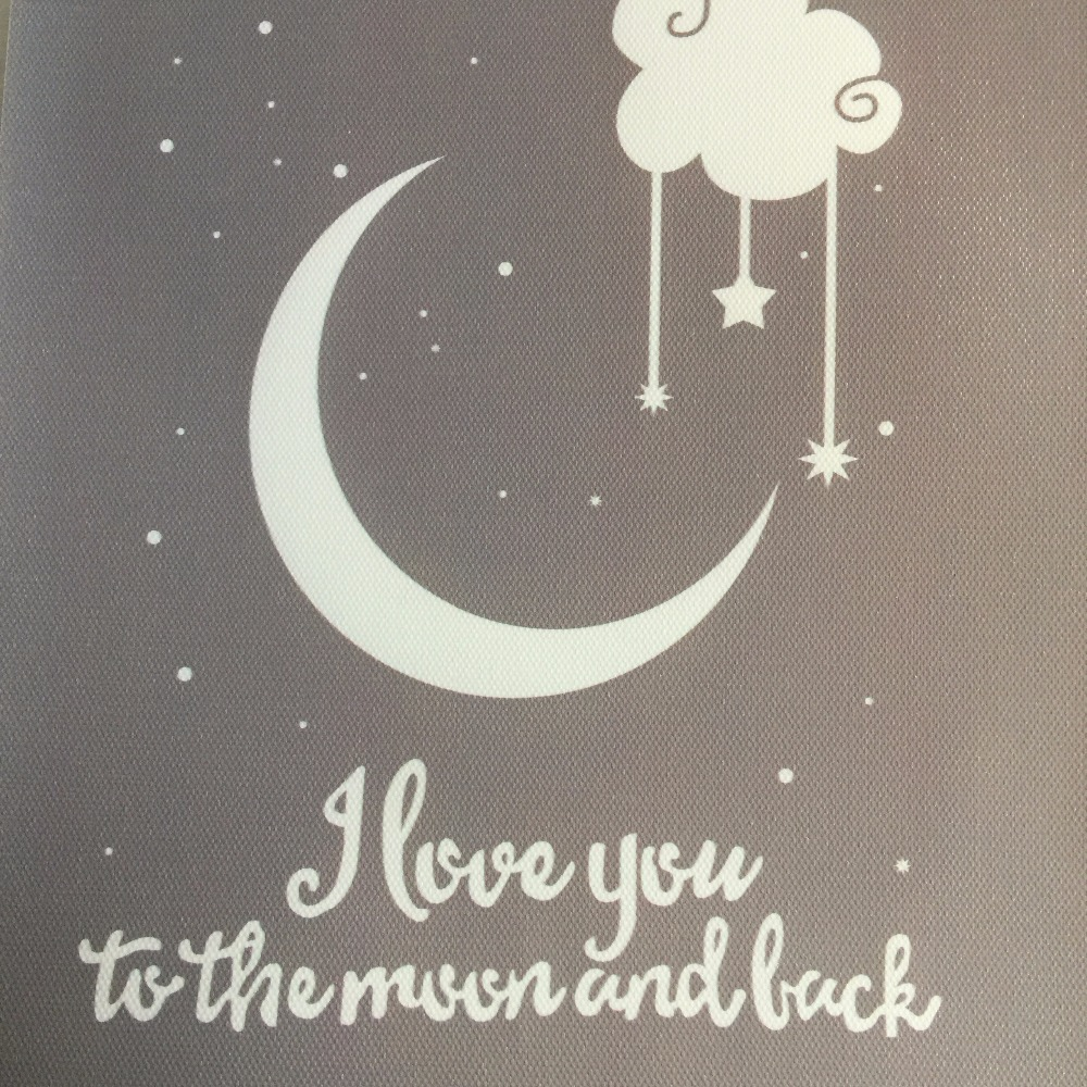 Love You To The Moon And Back Wall Art i love you to the moon and back digital poster canvas art picture