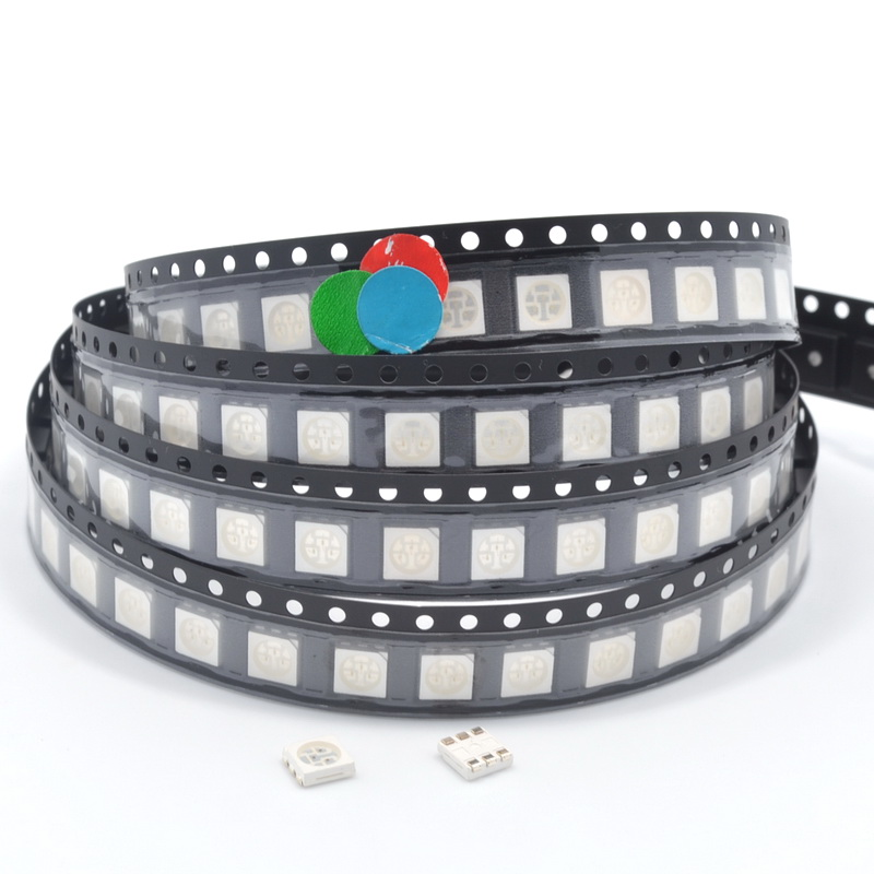 1000pcs 5050 RGB white Red Green Blue Yellow UV SMD/SMT Diode LED PLCC-6 3-CHIPS Super Bright lamp light Diodes green product 100pcs 5050 white red green white yellow rgb purple uv 410 415nm led smd smt chips led diode ultra bright light emitting diodes
