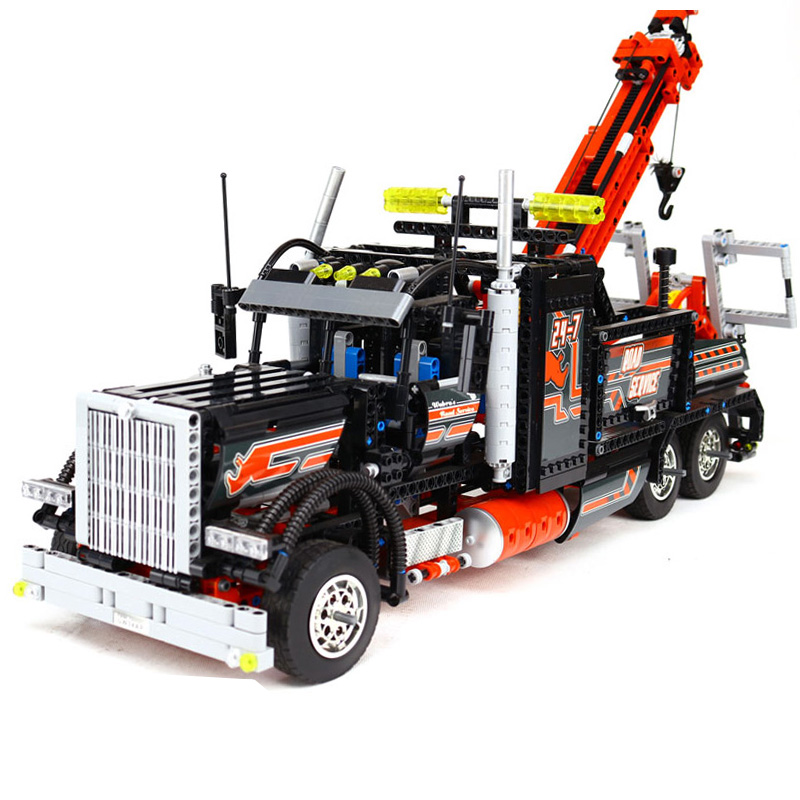 DHL 20020 Technic Series The Tow Truck Model Building Blocks Set Compatible 8285 Classic Car-styling Children Toy Education Gift