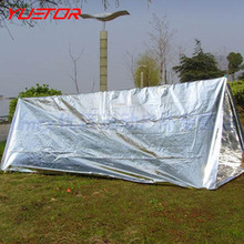 YUETOR first aid survival emergency shelter tents pet aluminized film outdoor summer camping hiking safety blanket tube tent