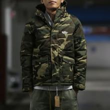 2016 Camouflage HARAJUKU thicke cotton-padded jacket cotton-padded jacket design short design with a hood Camouflage outwear