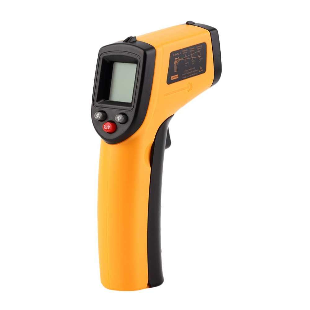 WD01 Non-Contact Laser LCD Display IR Infrared Digital C/F Selection Surface Temperature Thermometer Pyrometer Imager