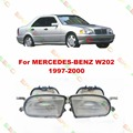 Car styling Fog Lamps For MERCEDES-BENZ W202  1997-2000  1 SET  Pattern glass