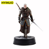 Warrior with sword Witcher Wild Hunting Geralt of Rivia PVC Material Desktop Decoration Action Figure Dolls Toys Displays
