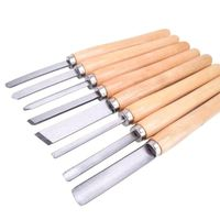 Conjunto de faca de torno e cicatrizes  8 peças  ferramentas de torneamento  trabalho em madeira  tabuleiro