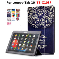 For Lenovo Tab 10 TB X103F X103F 10 1 Tablet Funda Cover Stand Case Colorful Painting