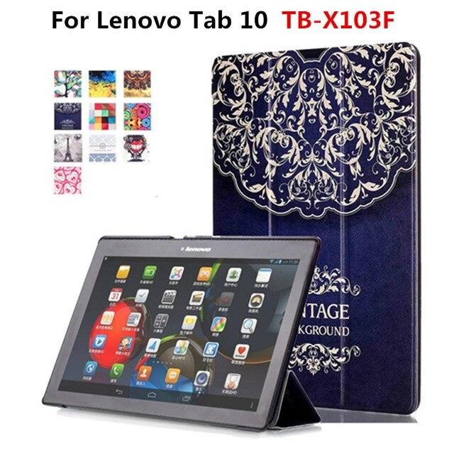 PU หนังสำหรับ Lenovo Tab 10 TB-X103F X103F Tab 2 A10-70F/L A10-30 X30F Tab  3 X70F x70M 10 1 แท็บเล็ตยืน