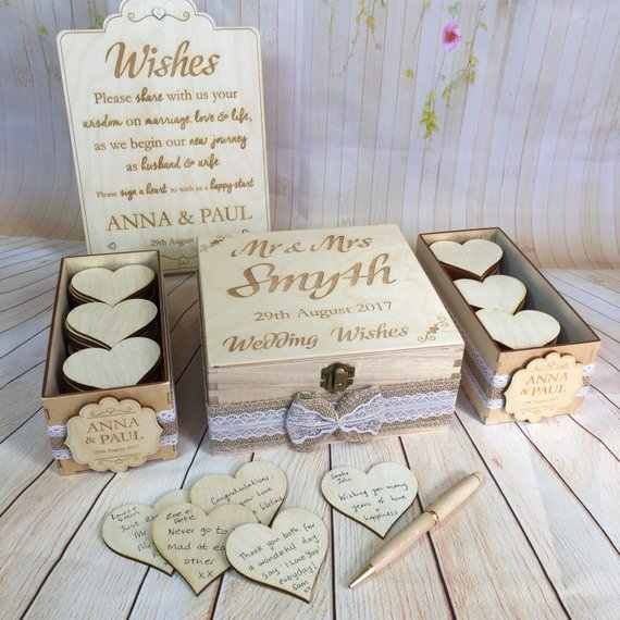 Personalize Rustic Vintage Wedding Wish Boxes Guest Book Alternative Drop Boxwishes Birthday Baby Shower Drop Top Box Guestbook
