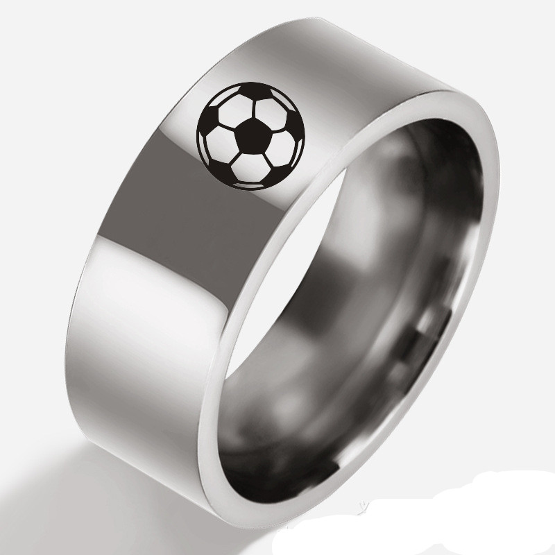 fashion sports series ring Anime related football symbols finger ring cute classic party toys Essential for football fans