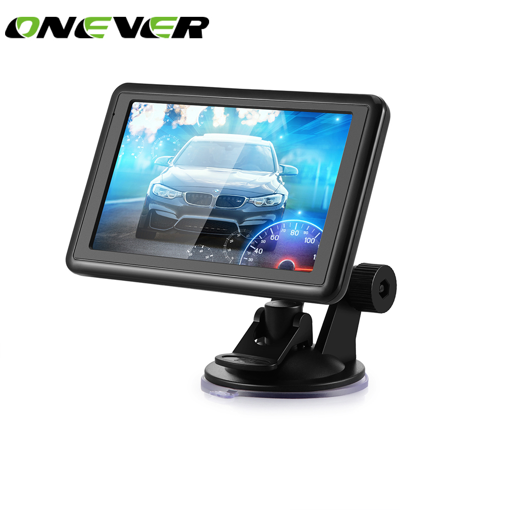 Onever 5 inch Car Truck GPS Navigation 8GB ROM Capacitive Screen touch FM Transmit TF Card