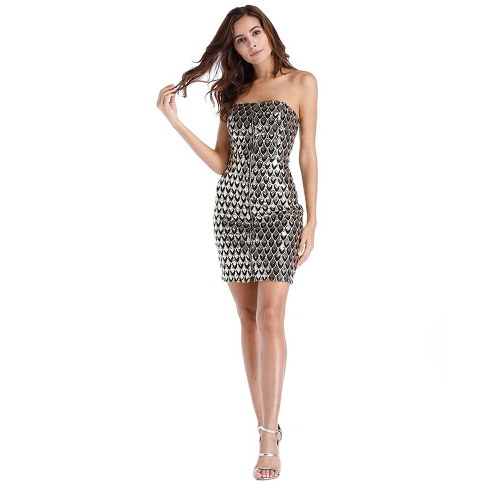 Новый Для женщин сексуальное платье Топ без бретелек Halo Tight Вышивка Крестом Пакет хип блестками мини платье элегантный ночной клуб Для женщ...