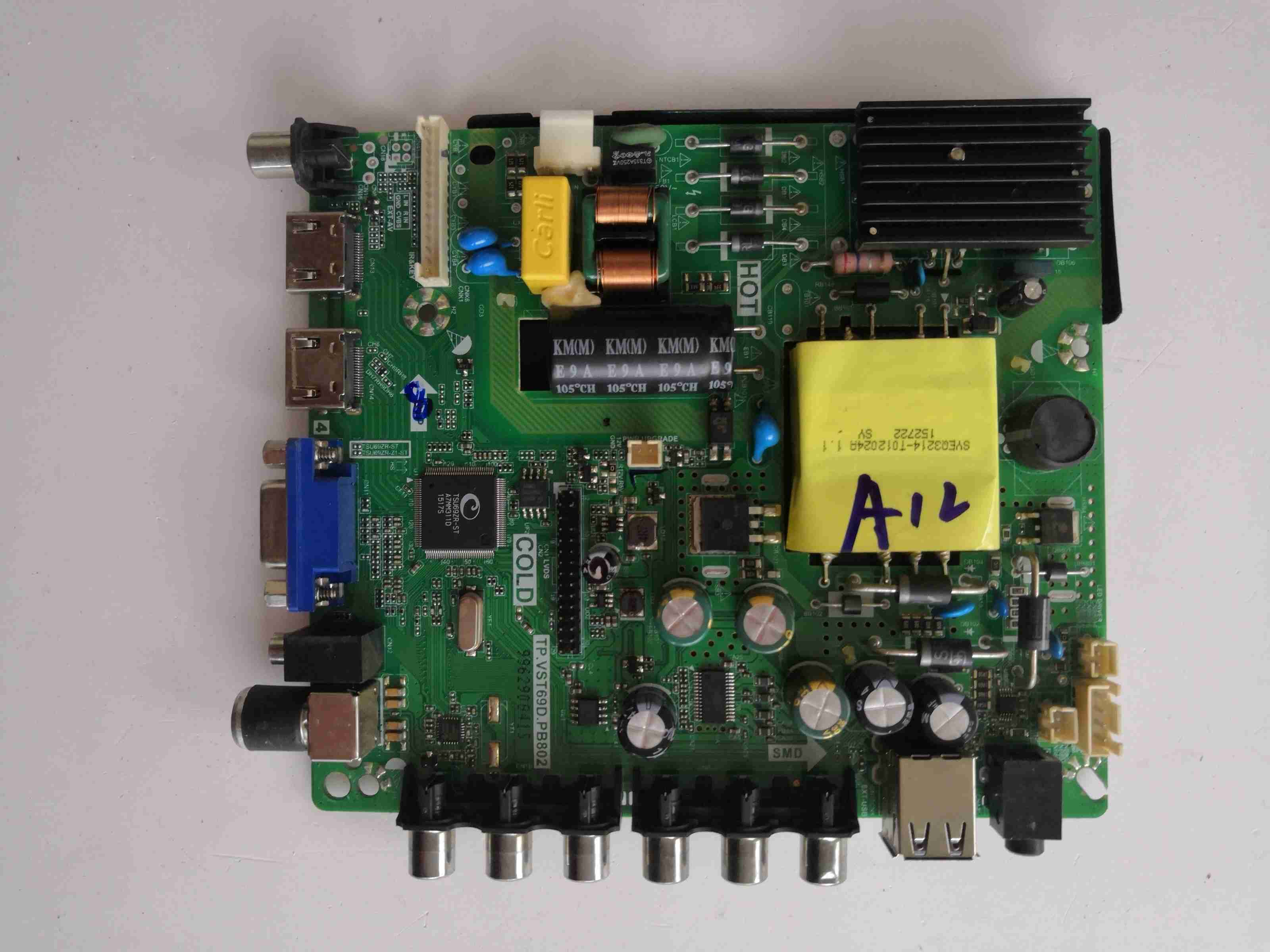 Main Board Circuit Logic Board Constant Current Board Led 39e330c Motherboard Tp.vst69d.pb716 Screen 1677yt Measured Audio & Video Replacement Parts