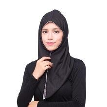 Арабские хиджабы для женщин мусульманская леди простой тюрбан двух сторон с использованием