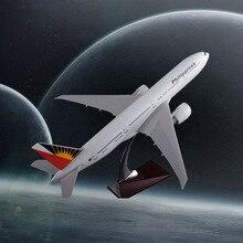 47cm Boeing 777 Filipine Airway B777 Modeli i aeroplanit Filipine rrëshirë Ndërkombëtare e Airbus-it Rrëshirë ajrore Modeli i Avionëve Mbledhja e Suvenirëve