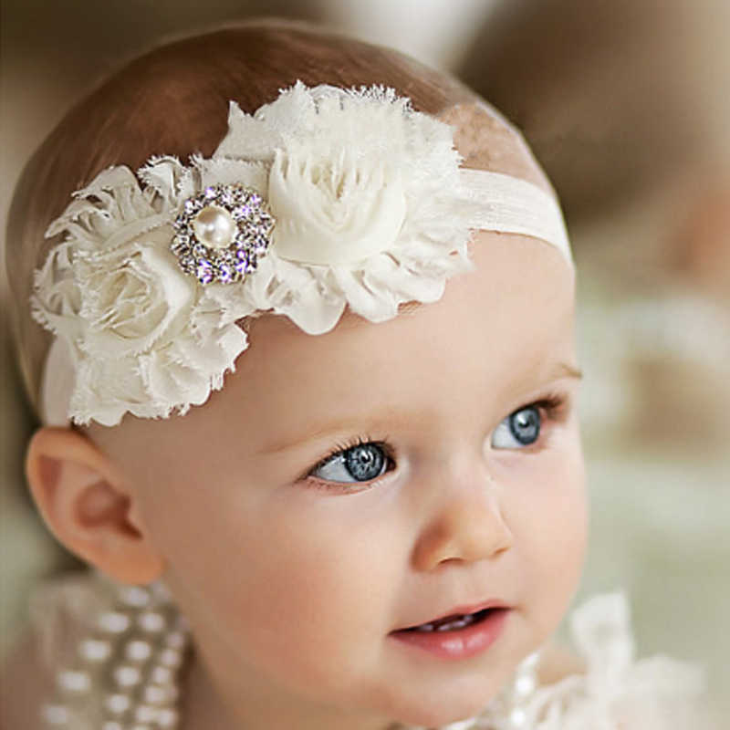 baby girl headband Infant hair accessories Flower newborn Headwear tiara headwrap band hairband Gift Toddlers bows clothes T087