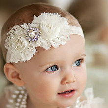 baby girl headband Infant hair accessories Flower newborn Headwear tiara headwrap band hairband Gift Toddlers bows clothes T087(China)