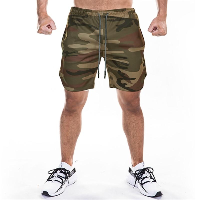 Men's 2 In 1 Running Security Pockets Leisure Shorts Quick Drying Sport Shorts Built-in Pockets Hips Hiden Zipper Pockets M-XXXL
