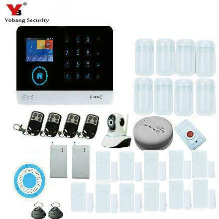 YobangSecurity Wifi Burglar Alarm system Security Wireless Wifi GSM Autodial Call Home Intruder Alarm System with IP Camera