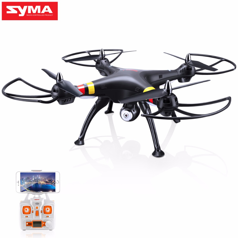 SYMA X8W Drone with Camera WiFi Real-time 2.4G 4CH 6 Axis dron Selfie profissional RC Quadcopter RTF RC Helicopter Black Color rc drone quadcopter x6sw with hd camera 6 axis wifi real time helicopter quad copter toys flying dron vs syma x5sw x705