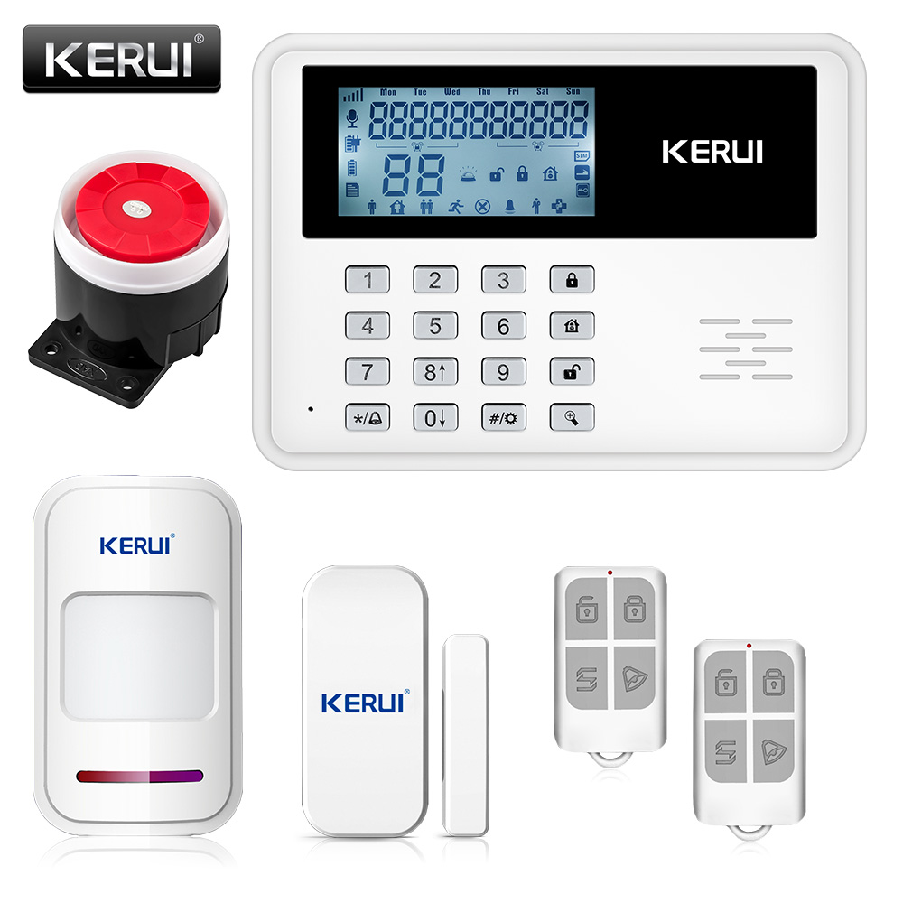 KERUI official store 2017 KERUI 5900G intelligent Android IOS app remote control Wireless Home Security SIM SMS GSM Alarm System Kit+large LCD screen