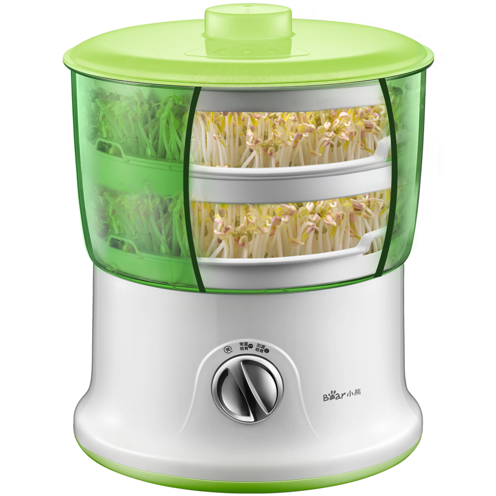 220V Bean Sprout Machine Large Capacity Thermostat Green Seed Automatic New Intelligent Bean Sprout Maker Healthy Food Machine bear three layers of bean sprouts machine intelligent bean sprout tooth machine dyj b03t1