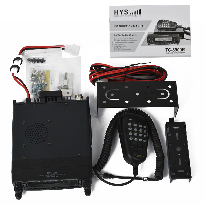 US $542 0 |Quad Band FM Transceiver CE FCC 10 meter 6 meter 2 meter and  70cm Quad Band Vehicle Car Mobile Base Radio TC 8900R-in Walkie Talkie from
