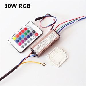 Светодиодный светильник RGB с чипом 10 Вт 20 Вт 30 Вт 50 Вт 100 Вт, водонепроницаемый светодиодный драйвер IP66, адаптер питания, трансформатор, пульт ...