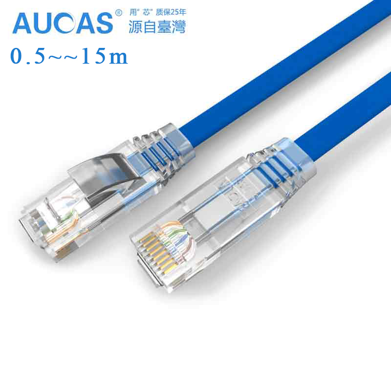 где купить AUCAS High Speed 0.5m 1m 5m 10m 15m Cat6 Cable UTP Flat Patch Cable Ethernet Lan Network cable RJ45 дешево