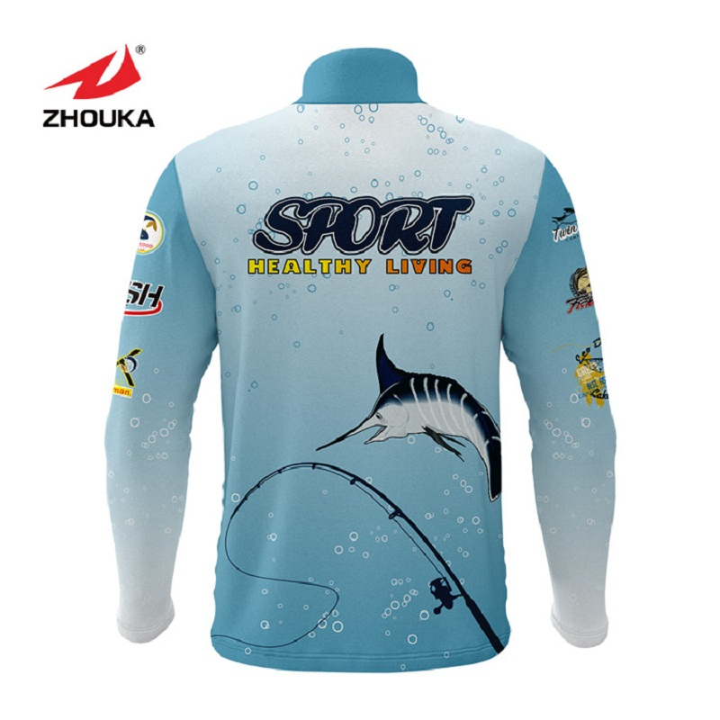 Image 4 - Marshal Customized Men Fishing Jerseys T Shirts Sublimation Printing Name Number Breathable Fishing Shirt Camisa Para Pesca-in Fishing Clothings from Sports & Entertainment
