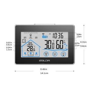 Image 2 - Baldr Draadloze Weerstation Touch Screen Thermometer Hygrometer Indoor Outdoor Weerbericht Sensor Kalender 3 Ch
