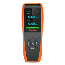 Air Quality Detector Professional Formaldehyde Monitor Temperature and Humidity with PM2.5/PM10/HCHO/AQI/Particles