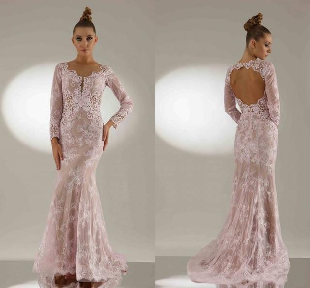 Elegant Mermaid Long Sleeve Evening Gowns Online Formal Prom Dresses ...