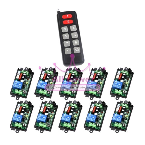 Home Automation AC110V 220V RF Wireless Hot Sale Remote