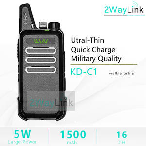 Mini Walkie-Talkie Radio UHF Handheld KD-C2 BF-888S RT22 Two-Way 5W ZT-X6 WLN