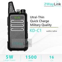 WLN KD C1 רדיו מיני ווקי טוקי UHF כף יד שתי דרך רדיו חם 5W מיני רדיו ZT X6 RT22 שימושי talki walki BF 888S 888S KD C2