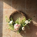 Floral Artificial Rose Wreath Door Hanging Wall Window Decoration Wreath Holiday Festival Wedding Christmas Party Decor