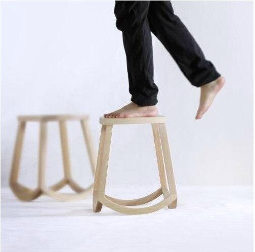 Chino noticias squeak diseñador muebles de madera maciza banco heces ...