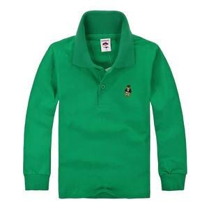 3723eb39e LJXBAOKU Kids Boys Polo Shirts Girls Long Sleeve Cotton