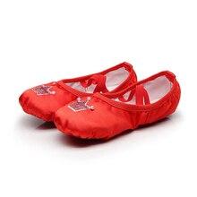 dance shoes toddler girl ballet satin slippers ballerina flats kids gymnastics for girls